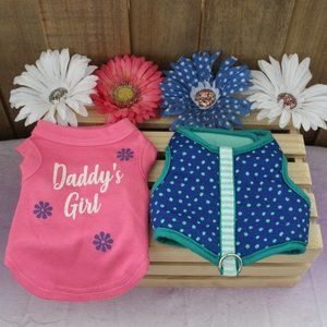 Other - Daddy's Girl Sparkle Dog Tee Shirt & Harness